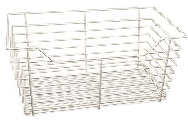 "Closet Wire Basket White Powder Coat (18"" x 12 x 11"") W x D x H"