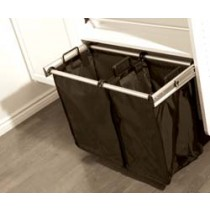 """Synergy Pull Out Hamper 18"""" W, Polished Chrome with Bag"""
