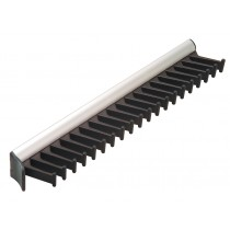 Synergy 20 Hook Tie Rack Matt Aluminum