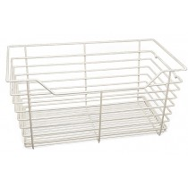 "Closet Wire Basket White Powder Coat (18"" x 12"" x 6"") W x D x H"